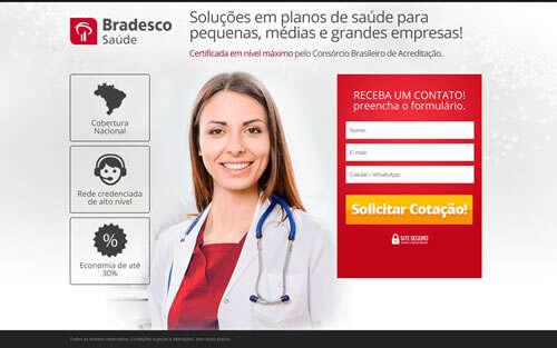 Landing Page - bradesco
