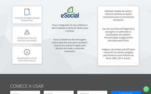 Landing Page - esocial